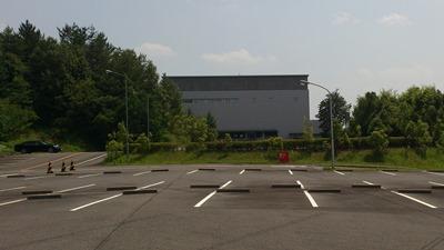 トヨタ博物館の裏駐車場