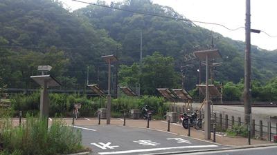 古虎渓駅ソーラーパネル