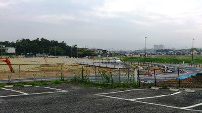 7月中旬のイオンモール長久手造成工事現場