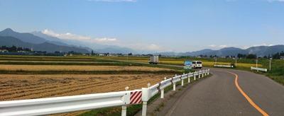 安曇野の農道
