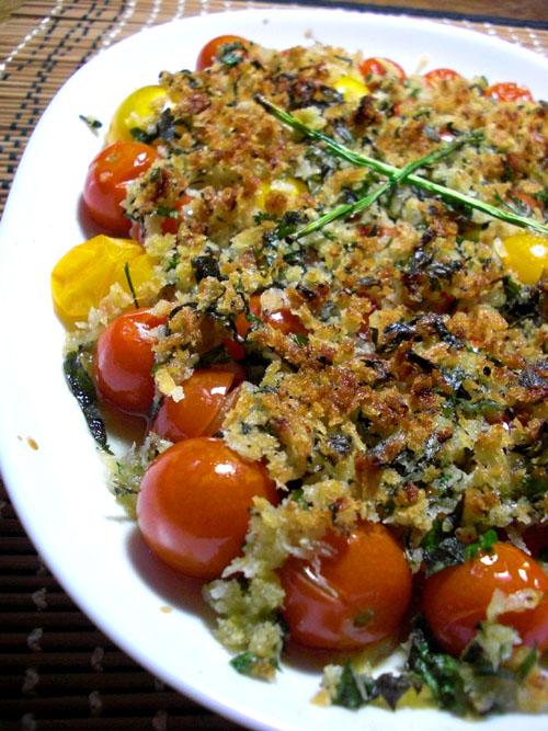トマトの香草パン粉焼き04