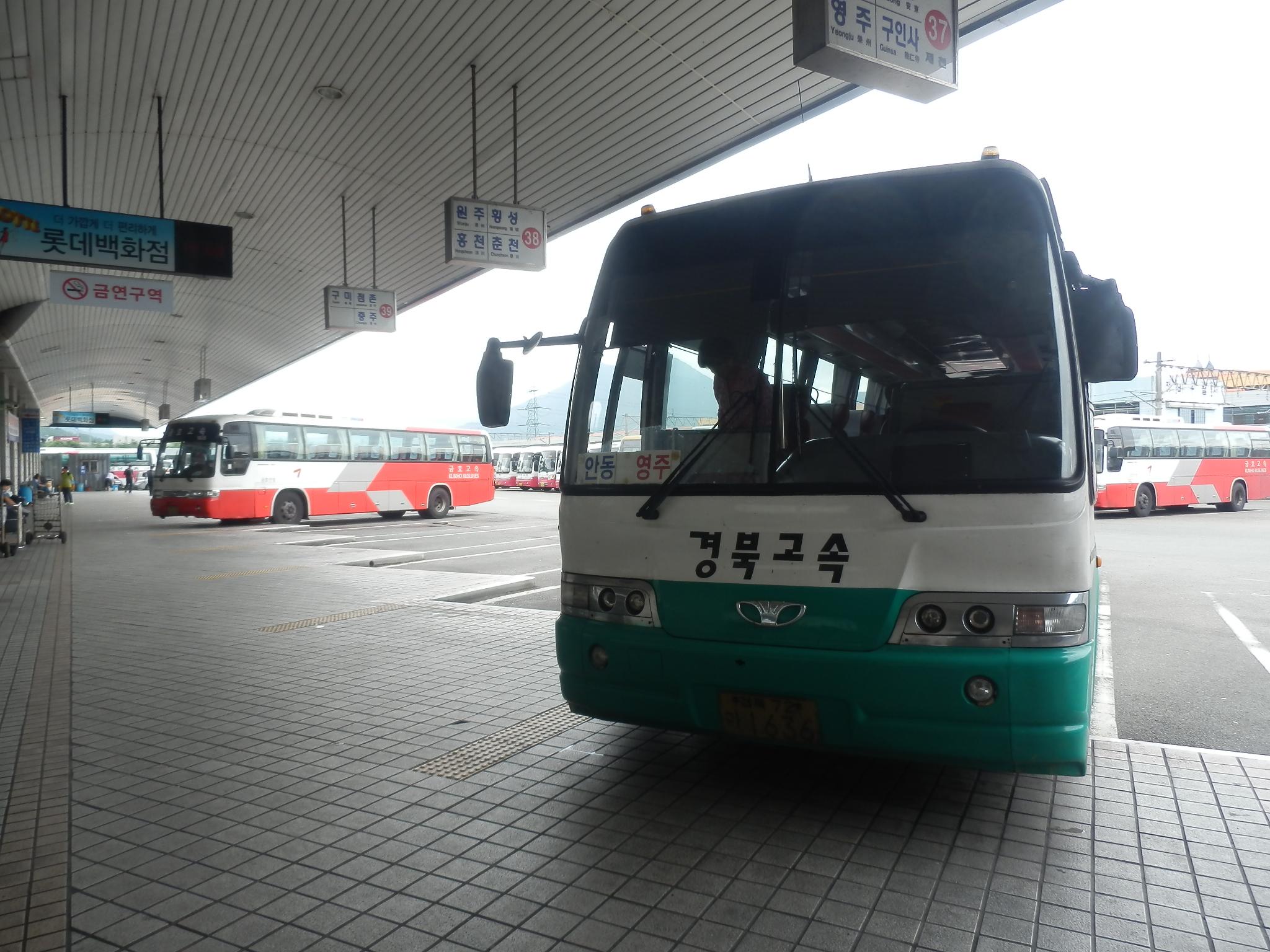 安東行きバス