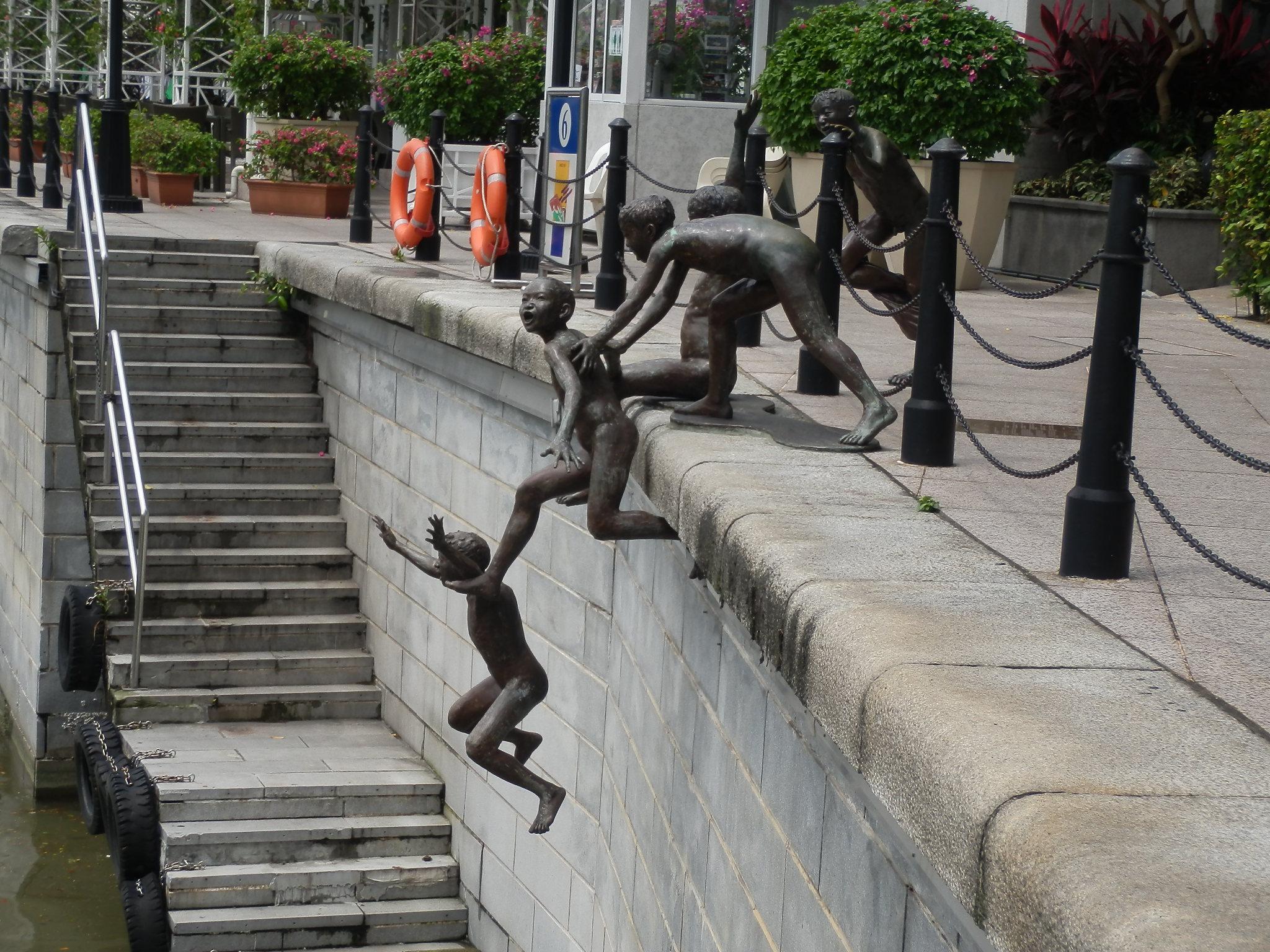 シンガポール・銅像