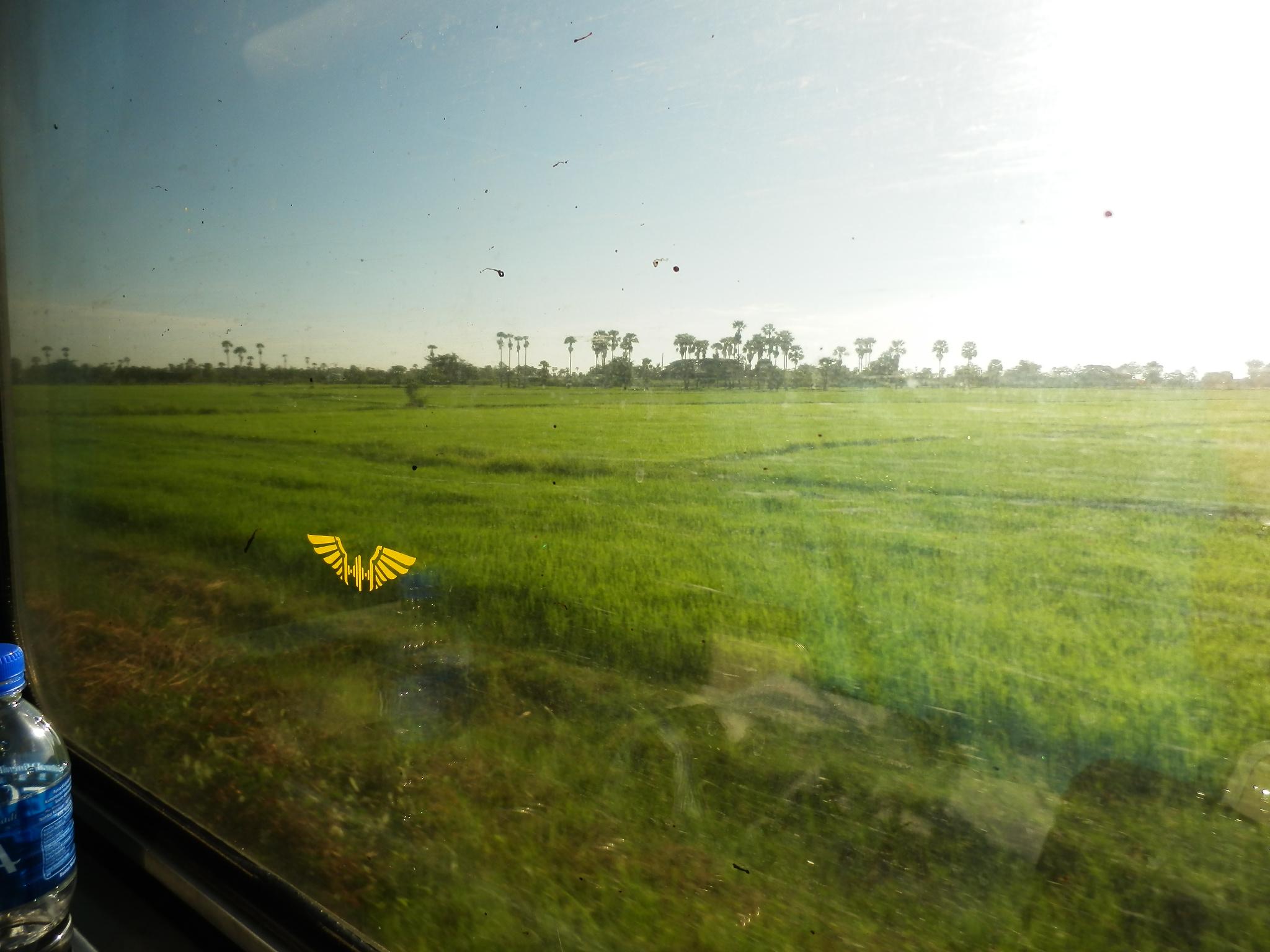タイへの寝台列車・車窓