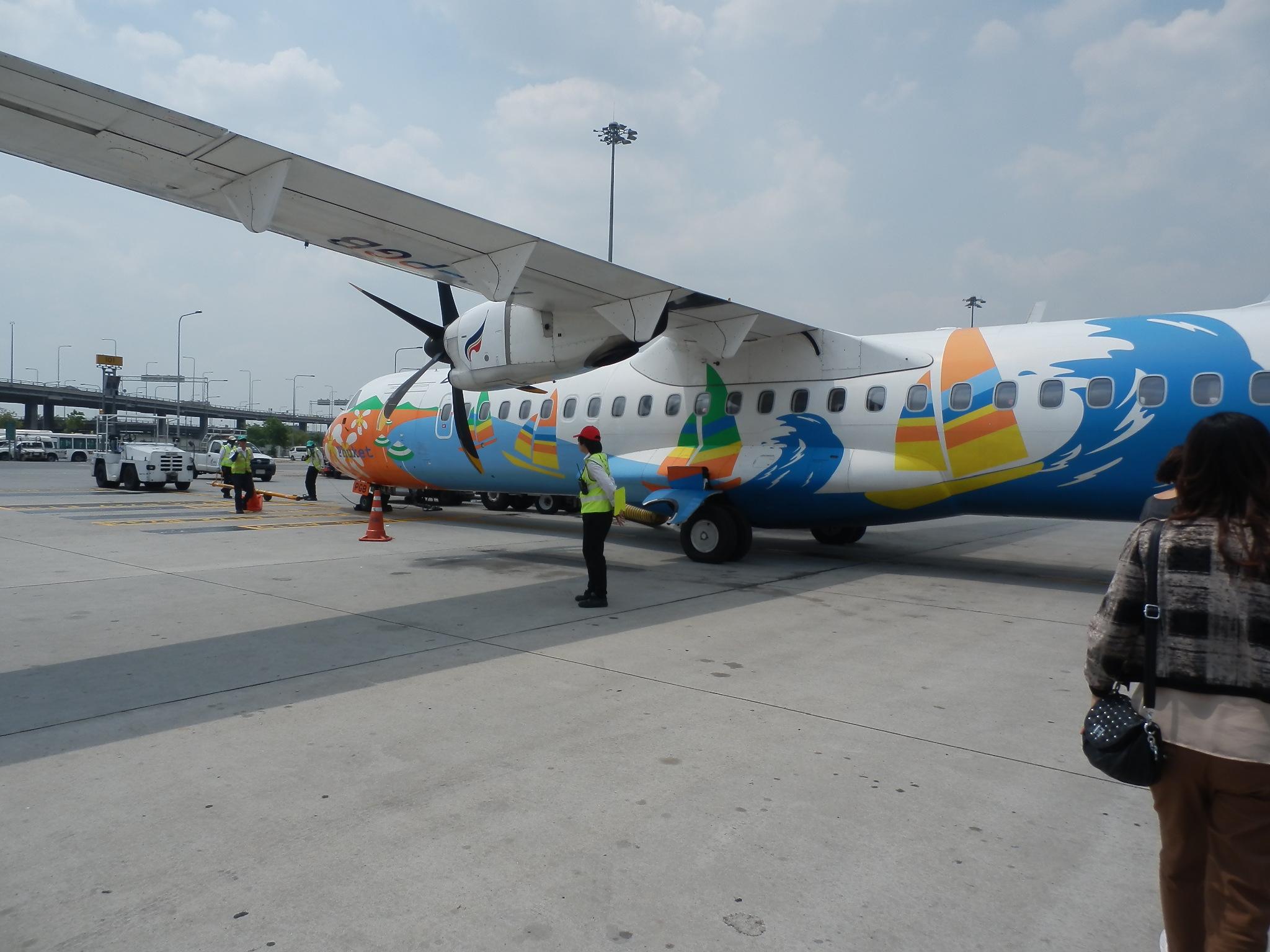 タイ→カンボジア・プロペラ機