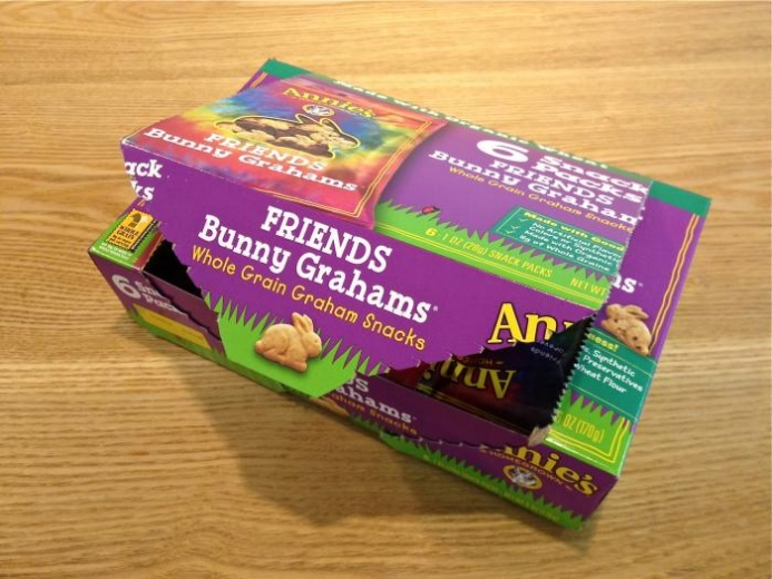 Annie's Homegrown, Bunny Graham Friends, Honey, Chocolate, Chocolate Chip, 6 Snack Packs, 1 oz (28 g) Each $4.78_1
