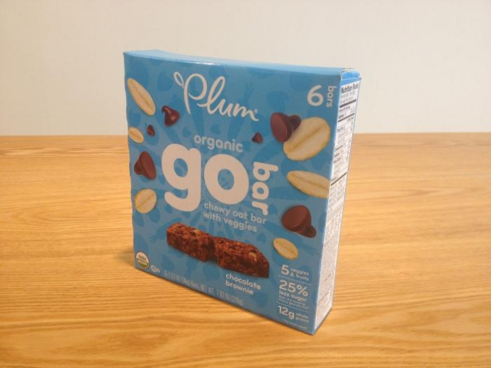 Plum Organics, Organic Go Bar, Chocolate Brownie, 6 Bars, 1.27 oz (36 g) Each $4.99