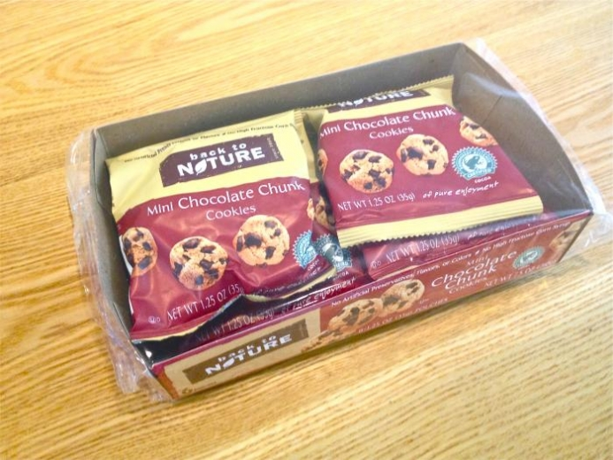 Back to Nature, Mini Chocolate Chunk Cookies, 6 Pouches, 1.25 oz (35 g) Each $5.09
