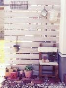 板壁お庭へ・・