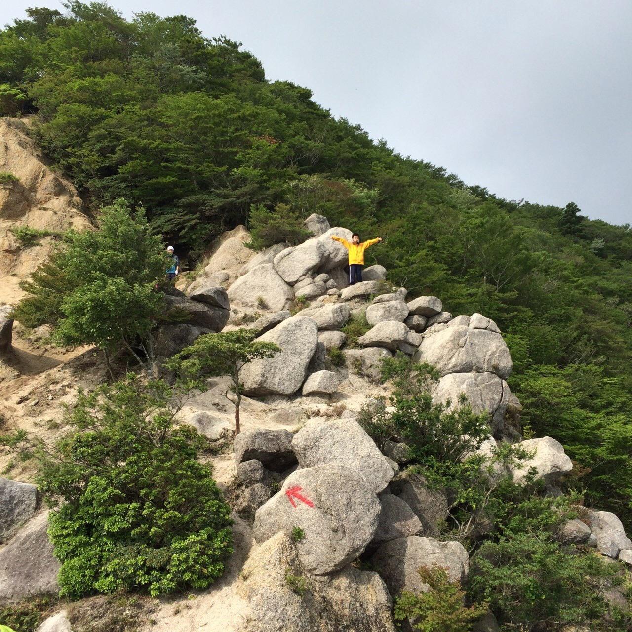 鎌ヶ岳近くの白ハゲ
