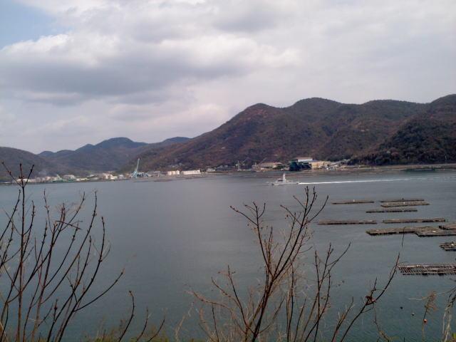 相生湾 保安庁と牡蠣筏