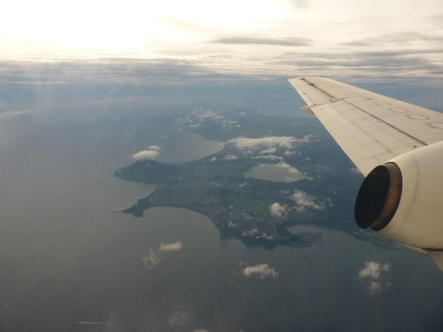 喜界島からの帰り 薩摩半島