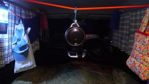N-WGNで車中泊、寝袋使用(道の駅びえい 丘のくら)