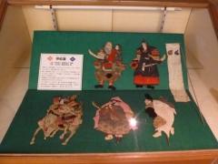押絵雛の展示ケース