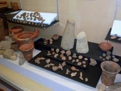 土器などの展示風景