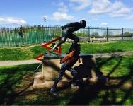彫刻公園ランナー