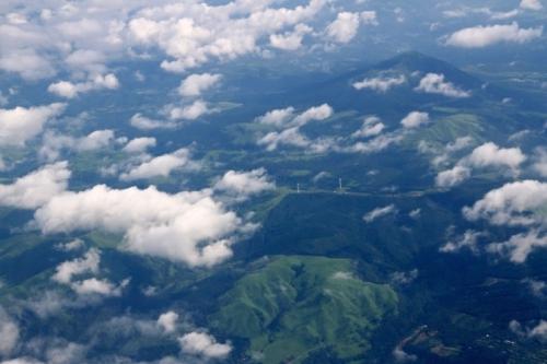 九州旅 機内からの風景