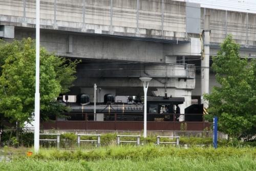 新八代駅でSL人吉