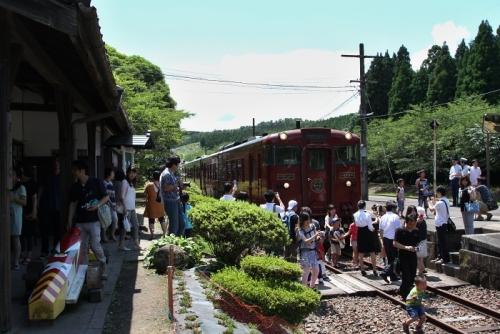 大畑駅にて撮影会