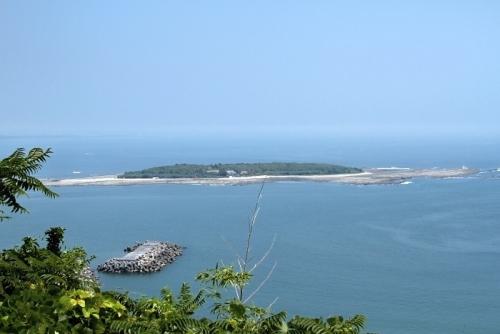 展望台から青島