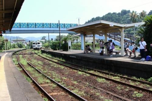 青島駅上りホーム