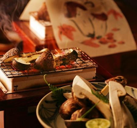 10月「松茸の地酒和紙焼き」