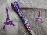 エッフェル塔の刺繍