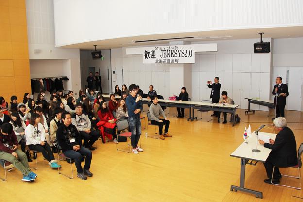 20140225韓国の学生が沼田町の雪冷熱活用を見学