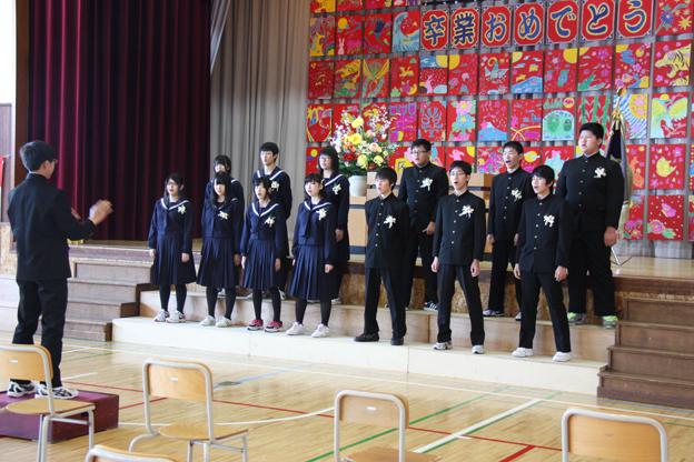 20140313沼田中学校卒業式