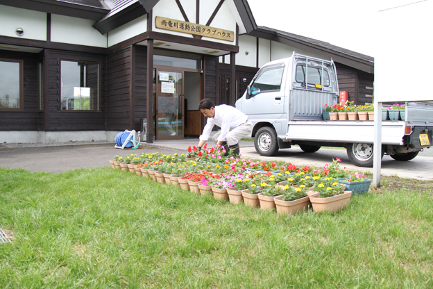20140619日本緑化中村が花の寄贈