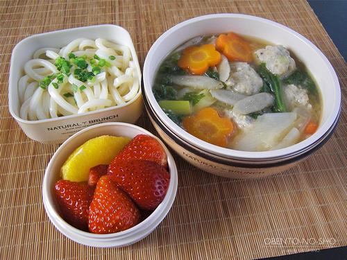 レンコン団子の味噌うどん弁当01