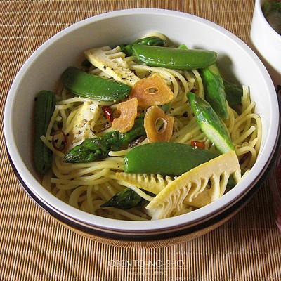 春野菜とアンチョビのパスタ弁当02