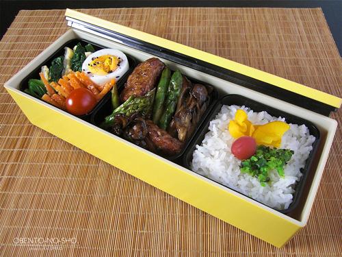 豚と野菜のバルサミコ焼き弁当01