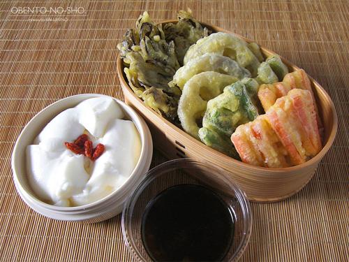 4種の野菜天丼弁当01