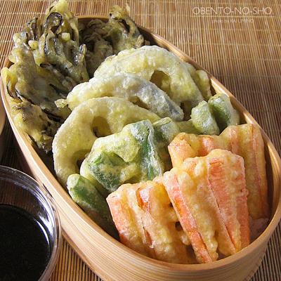 4種の野菜天丼弁当02