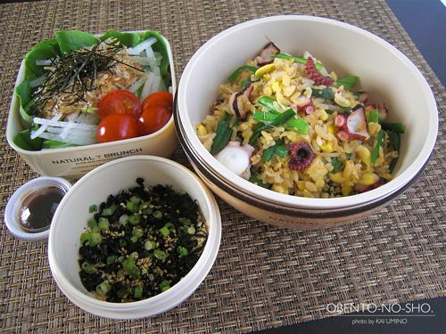 蛸と豆もやしの炒飯弁当01