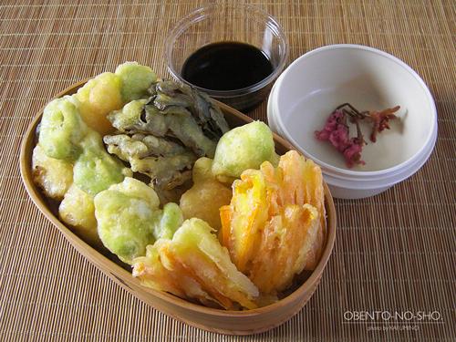 海老とそら豆のかき揚げ丼弁当01