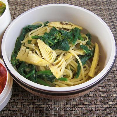 春野菜のふき味噌豆乳パスタ弁当02