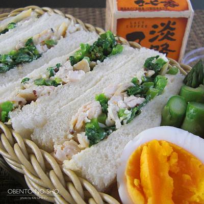 春野菜のチキンサンド弁当02