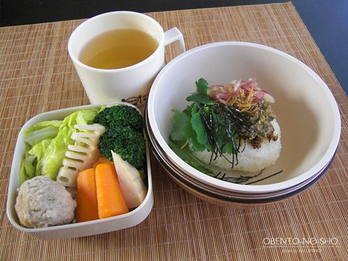 ふき味噌の焼きむすび茶漬け弁当01