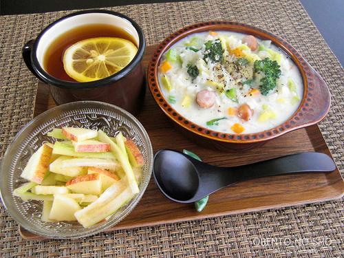 春野菜の豆乳リゾット*おウチご飯