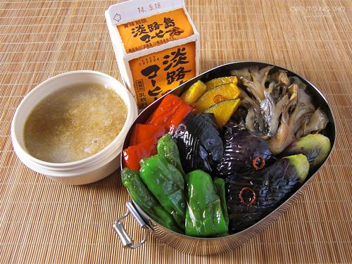 野菜の揚げ浸しきしめん弁当01