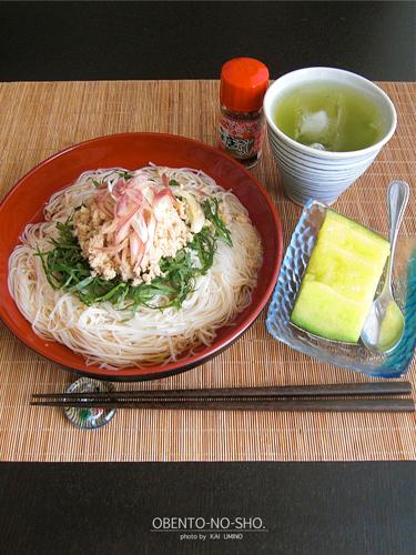 えぼ鯛胡麻そぼろの素麺*おウチご飯03