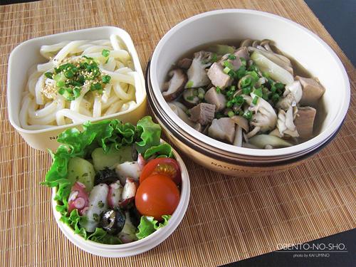 塩豚と茸汁うどん弁当01