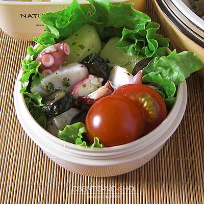 塩豚と茸汁うどん弁当03