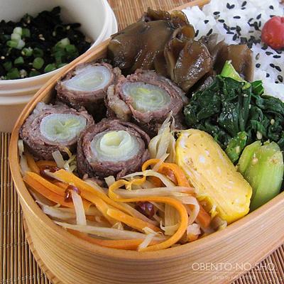 ネギの肉巻きすき焼き弁当02