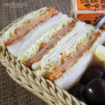 お肉屋さんのハムカツサンド弁当03