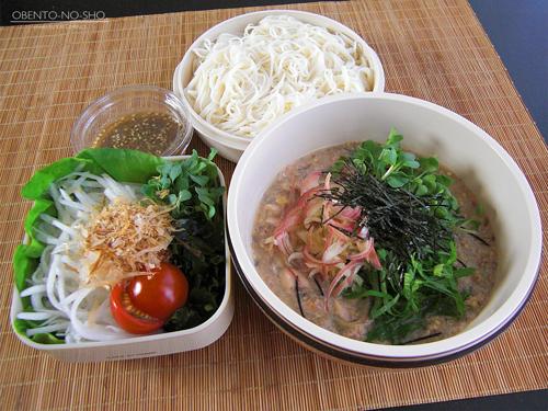 さば缶の冷や汁素麺弁当01