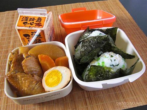 鶏と大根の黒酢煮弁当01