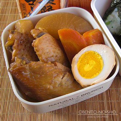 鶏と大根の黒酢煮弁当02